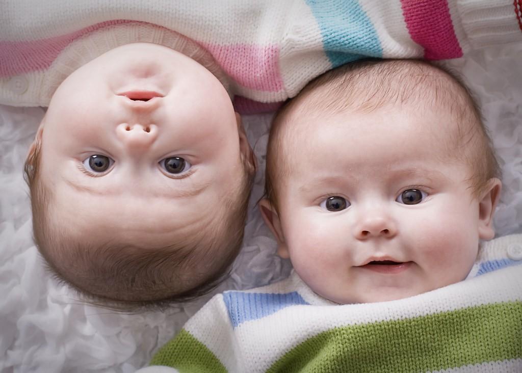 gemelos-hermanos-bebés